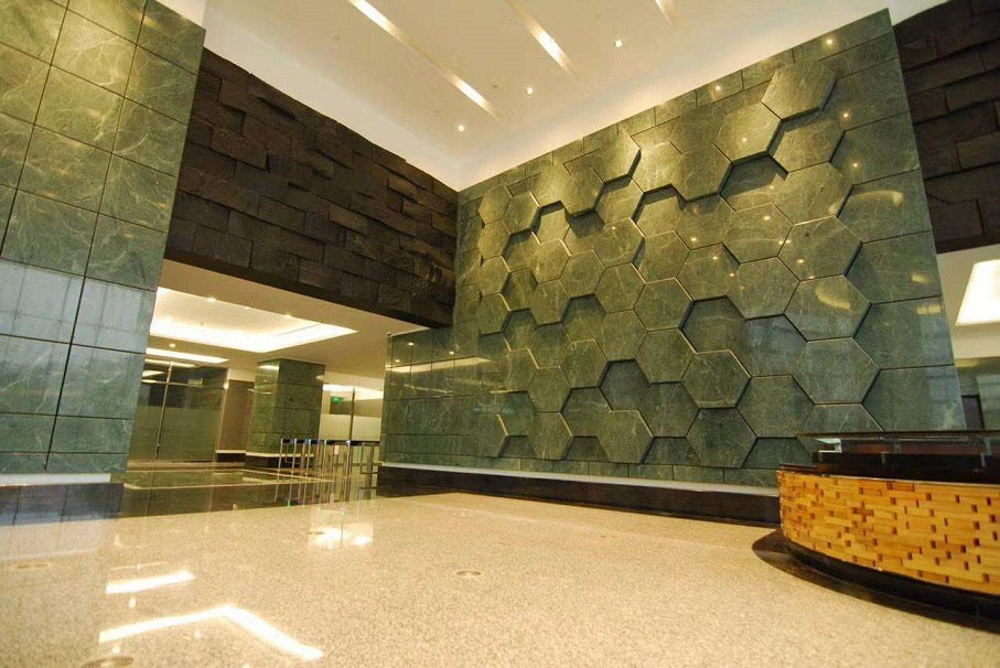 Empress Green Marble Wall Covering