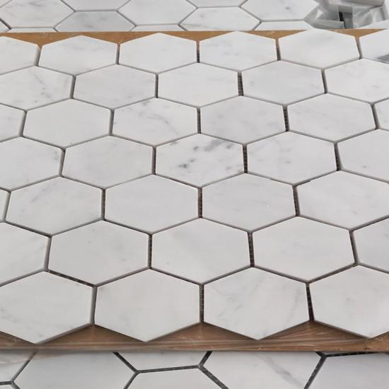 elongated hexagon Mosaic Tile